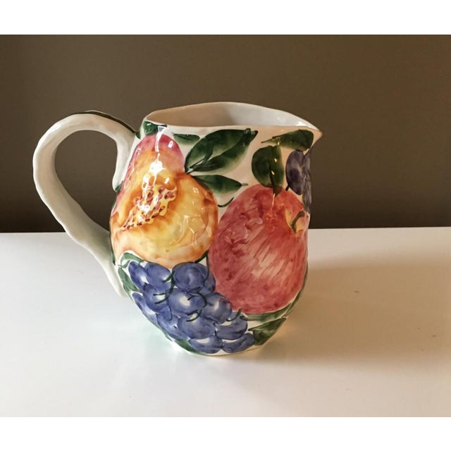 Vintage Italian Majolica Pitcher For Sale - Image 5 of 5