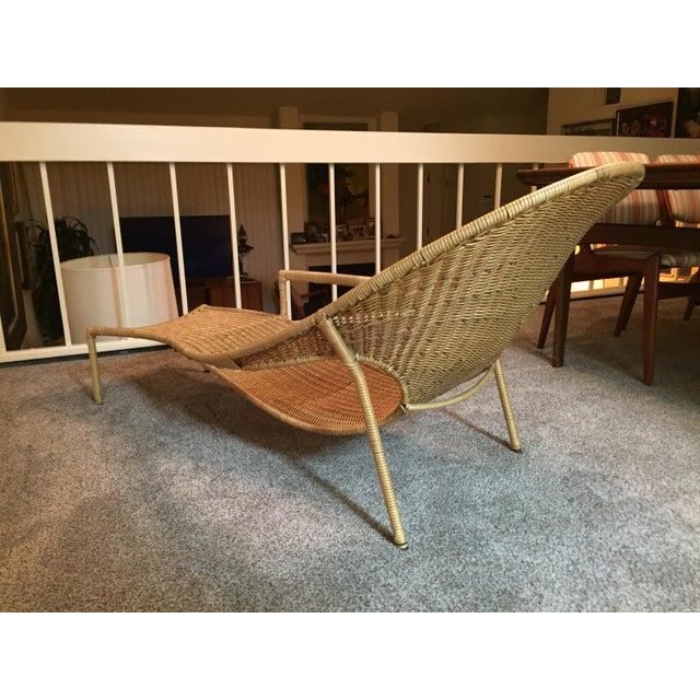 Scarce Francis Mair Mid Century Modern Rattan Low Slung Lounge Chair Chairish