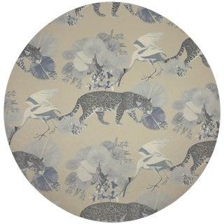 "Nicolette Mayer Leopard Walk Cream 16"" Round Pebble Placemats, Set of 4 For Sale"