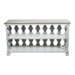 Gray Painted Console Table