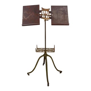 Vintage Traditional Folding Book Stand For Sale