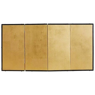 Japanese Four-Panel Gold Leaf Table Screen For Sale