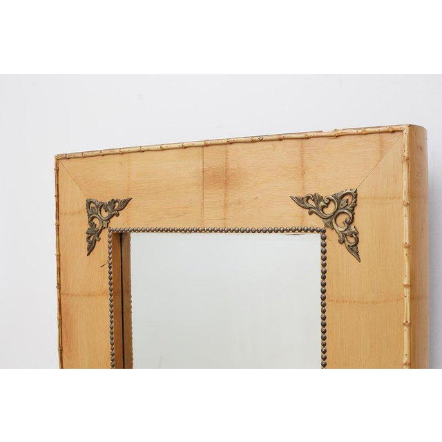 Late 20th Century Pair of Bamboo Mirrors With Book Motif For Sale - Image 5 of 12