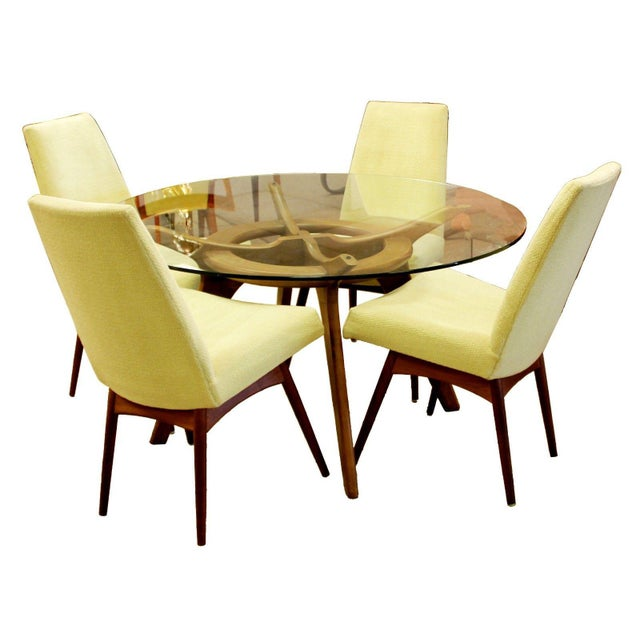 Mid Century Modern Adrian Pearsall Compass Dinette Dining Table & 4 Chairs 1960s For Sale - Image 12 of 12