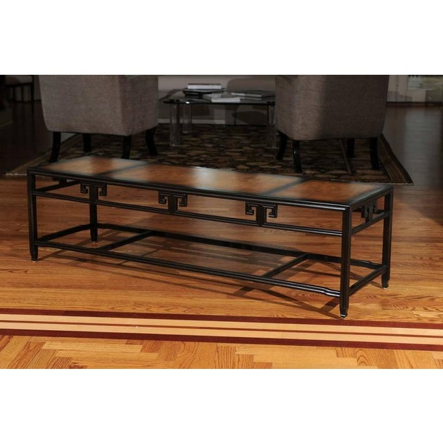 """1960s Elegant Burl Inlay Coffee Table, """"Far East"""" Collection by Baker For Sale - Image 5 of 11"""