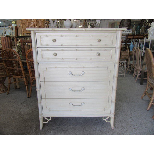 Thomasville Palm Beach Faux Bamboo Dresser - Image 8 of 8