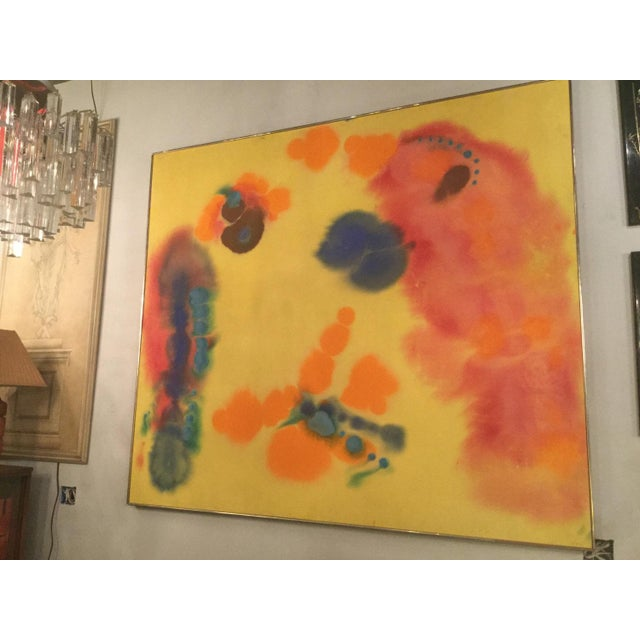 Amazing painting in Synthetic Polymer From WM Burden Collection, who was the former president of Museum of Modern Art from...