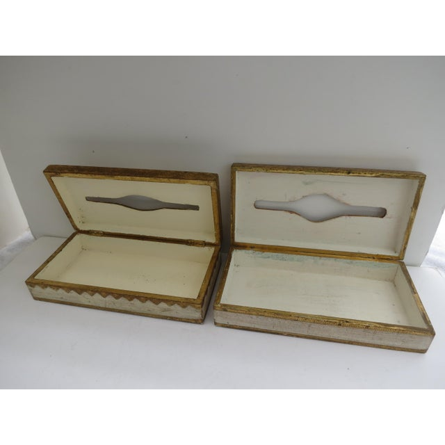 Florentine Tissue Boxes - A Pair - Image 4 of 6