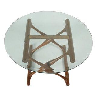 Poul Hundevad Teak Folding X-Base Occasional Table For Sale