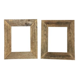 Set of 2- Barnwood Picture Frames For Sale