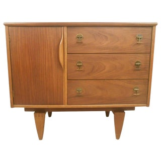 Mid-Century Walnut Credenza by Stanley Furniture For Sale