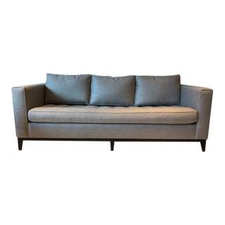 A. Rudin Gray Linen & Suede Custom Sofa