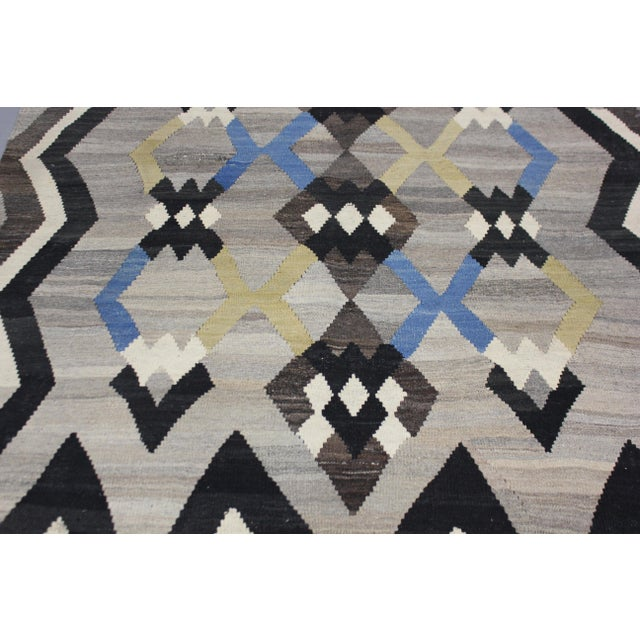 "Islamic Hand-Knotted Modern Kilim - 6'10"" X 5' For Sale - Image 3 of 3"