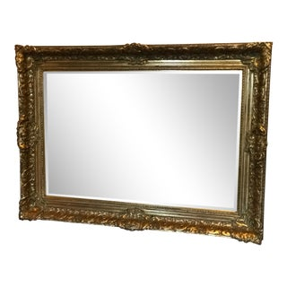 La Barge Beveled Mirror With Intricately Carved Gilt Frame