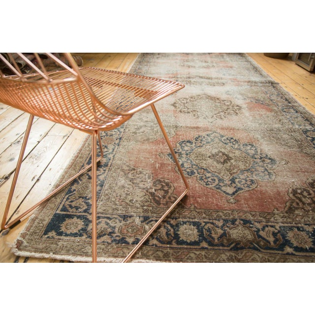 "Vintage Distressed Oushak Rug Runner - 4'11"" x 13'6"" For Sale In New York - Image 6 of 10"
