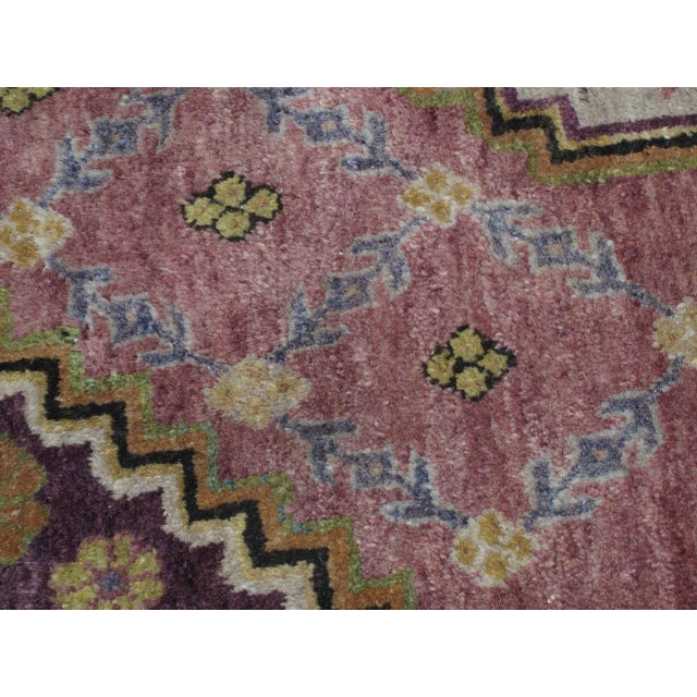 Pink Khotan Carpet For Sale - Image 8 of 10