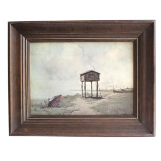 Cabin on Stilts, Framed Print For Sale