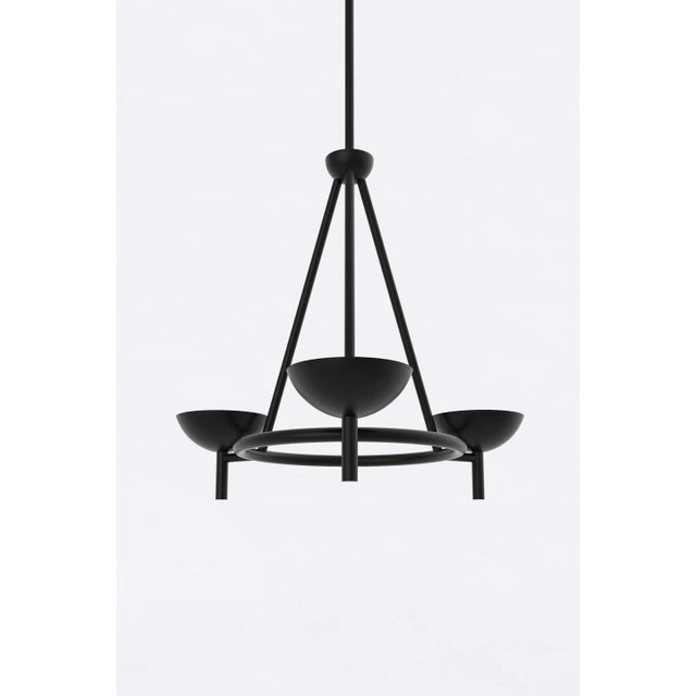 Postmodern Contemporary 200 Chandelier in Blackened Brass by Orphan Work, 2020 For Sale - Image 3 of 6