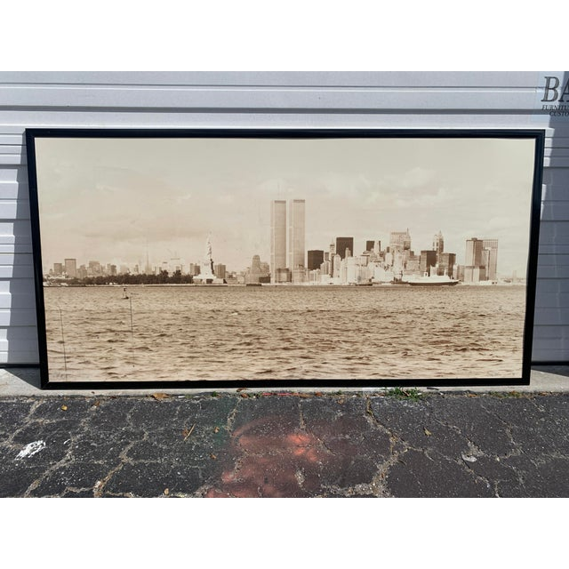 1970s Cityscape of Lower Manhattan Photograph, Framed For Sale - Image 11 of 11