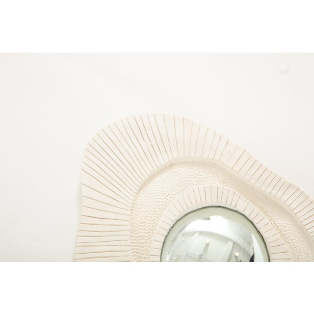 Contemporary Carved Plaster Mirror For Sale - Image 3 of 10