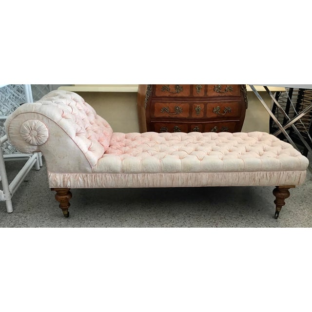 Wonderful Fortuny upholstered vintage French chaise. Fabulous Fortuny fabric with some fading. Looks amazing with this...