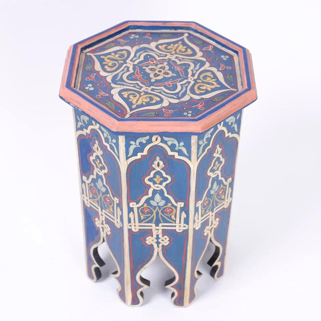 Antique Moorish Painted Stands - a Pair For Sale - Image 4 of 10