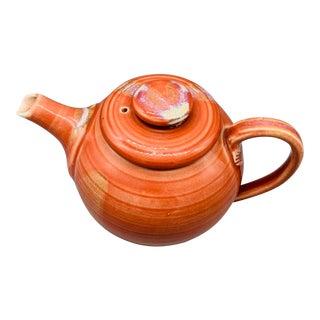 Terramonary Pottery Drip Glaze Crimson Teapot For Sale