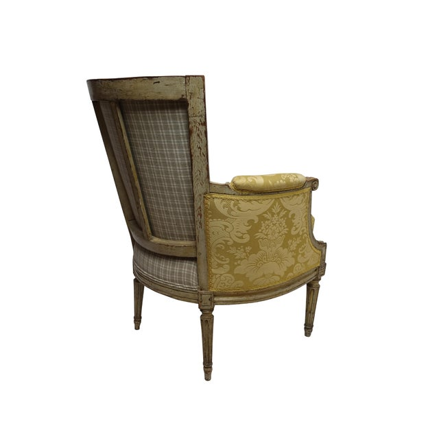 French Louis XVI Style Bergere Chair, French, Late 19th-Early 20th Century For Sale - Image 3 of 8