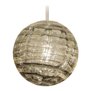 Organic Smoke Toned Glass Globe by Doria Leuchten For Sale