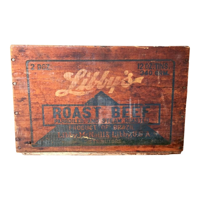 Vintage Libby's Roast Beef Wood Crate - Image 1 of 10