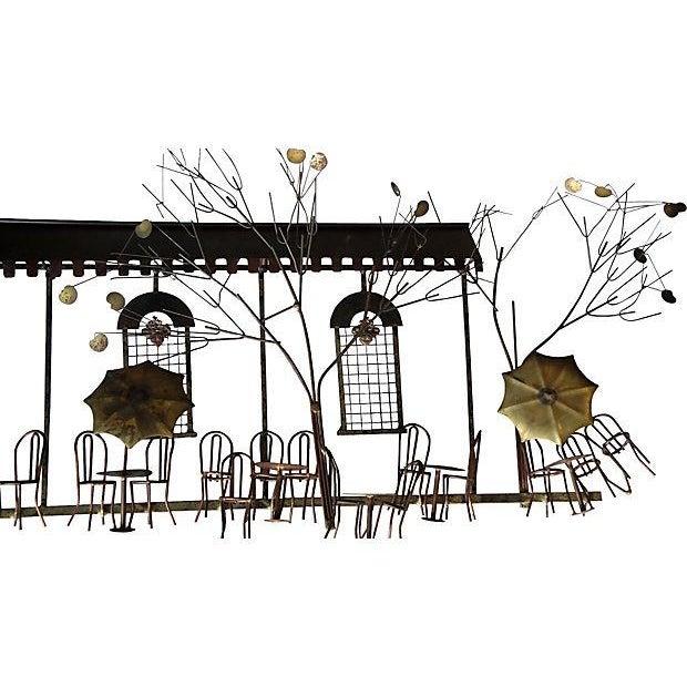 Curtis Jere Curtis Jere Signed Vintage Parisian Cafe Sculpture For Sale - Image 4 of 7
