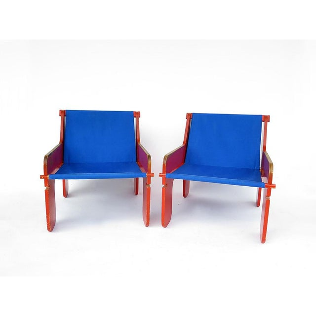 Blue Swiss Garden Removable Chairs For Sale - Image 8 of 13