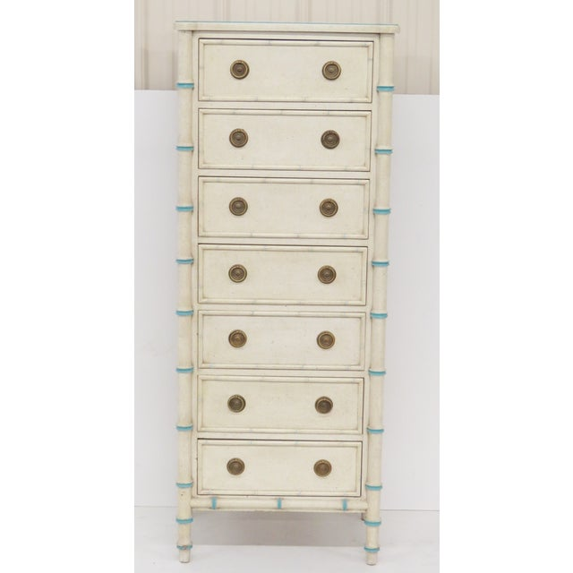 Swedish Style Faux Bamboo Lingerie Chest - Image 6 of 6