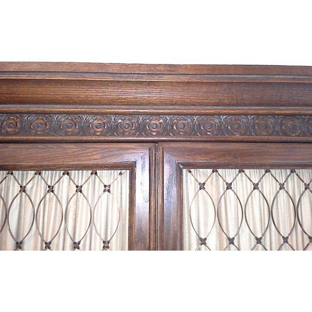 Conant Ball Tall Oak Armoires - Pair - Image 4 of 7