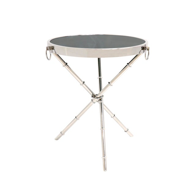 Silver Transitional Pasargad Home Vicenza Collection Side Table For Sale - Image 8 of 8
