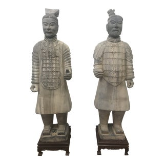Chinese Terra Cotta Warriors - a Pair For Sale