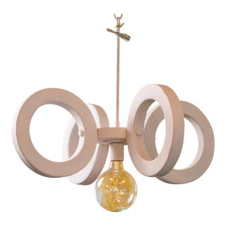 Mid-Century Sculptural Pendant Light For Sale