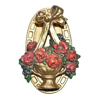 Hubley Flower Basket Door Knocker For Sale