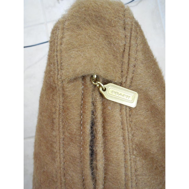 """Wool Mohair Coach 18"""" Square Pillow For Sale - Image 4 of 9"""