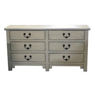 Chinese Off White Elmwood Bureau For Sale