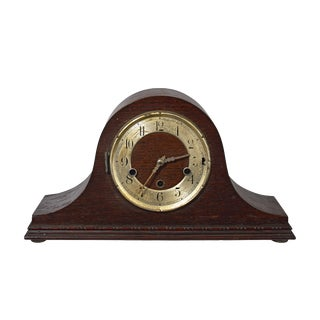 Mid-20th Century Tambour Style Mantle Clock For Sale