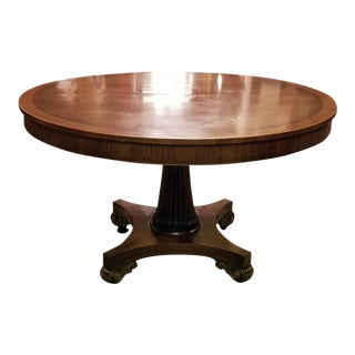 Late 19th Century American Mahogany Extendable Dining or Center Table For Sale