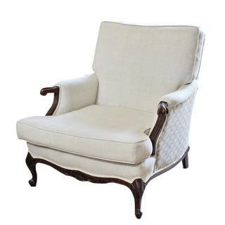 Vintage Bergere Upholstered Chair