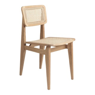 Marcel Gascoin C-Chair Dining Chair in Oak For Sale