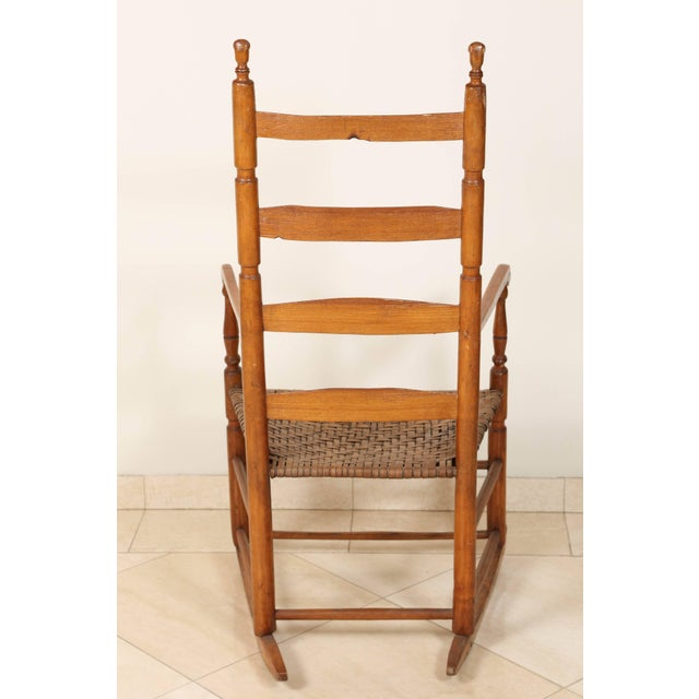 Early 20th Century Ladder High Back Rocking Chair For Sale In Los Angeles - Image 6 of 7
