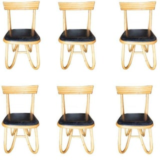 1950s Restored Loop Leg Rattan Dining / Side Chairs - Set of 6 Preview