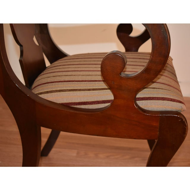 Wood 19th Century Antique Empire Solid Mahogany Dining Room Chairs- 6 Pieces For Sale - Image 7 of 13