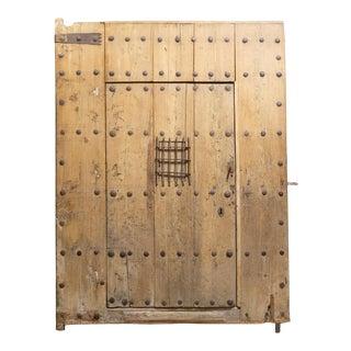 Monumental Antique 18th C. Spanish Porch Door With Interior Door C.1700s For Sale