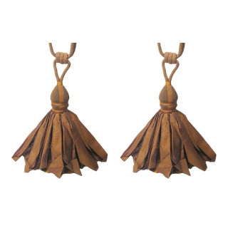Copper Hued Tiebacks With Ballgown Tassels - a Pair For Sale