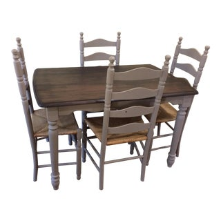 Antique Traditional Farm Style Dining Set For Sale
